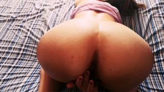 She masturbates then gives her friend a fantastic blowjob