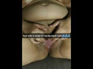 Chubby young wife is ready for try some big black cock [Cuckold. Snapchat]