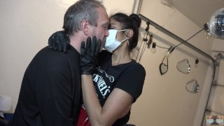 Quarantine Kissing!! Only 1 Mask. Dr. Grey and Viva Athena Make out differently with a mask.