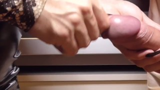 BLACK LONG NAILS - SPLIT + PEEHOLE + CUM - PREVIEW