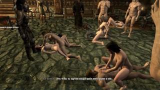 Sex Orgy! Fight Club Skyrim Gangbang, Sex Of Three Couples At The Same Time! | Skyrim porno