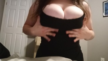 Playing with my big tits