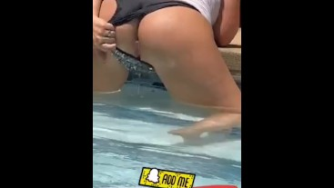 Flashing my pussy at the pool !