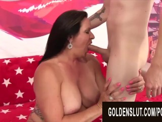 GoldenSlut – Older Ladies Show off Their Cock Sucking Skills Compilation 20