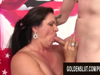 Preview 2 of GoldenSlut - Older Ladies Show off their Cock Sucking Skills Compilation 20