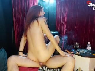 Cigar Smoking Cowgirl + Smoking Cock Massage