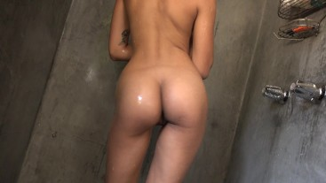 Wet And Messy Squishing Sweet Honey Buns Down The Drain With Feet