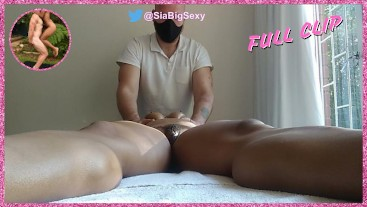South African MILF between legs up close sensual yoni massage and fingering