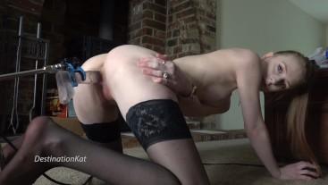 Sex Machine Fuck and Stocking Stuffing
