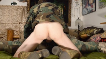 Army Soldier Breeding Fleshlight - Hotel Bareback Boots Camo Anon Hung Muscle Ass