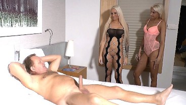 German Uncle Fuck Young Step Niece and BFF in FFM Threesome