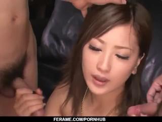 Aika sucks dick like a goddess during hot threeesome – More at Slurpjp com