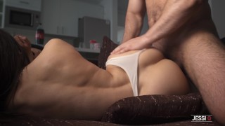 Blowjob after shower transforms in sensual creamy pussy cock ride - Jessi Q