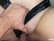 Sexy Babe Oil Jerk Off Dick and had Passionate Cowgirl Sex - Cumshot