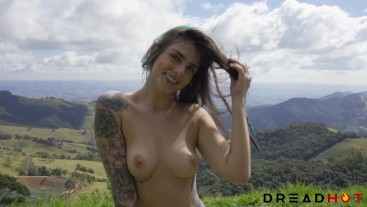 Blowjob, Deepthroat and Facial With an Amazing Nature View