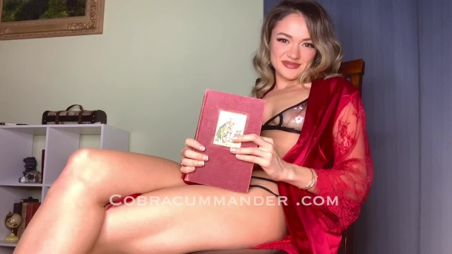 Reading class for adult Femdom reads bedtime story in lingerie w meditative background music asmr pov