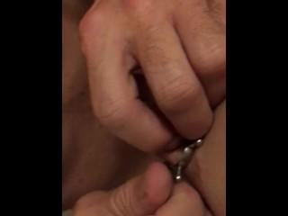 Nipple clamp night - nipple torture - make it hard to make it fit