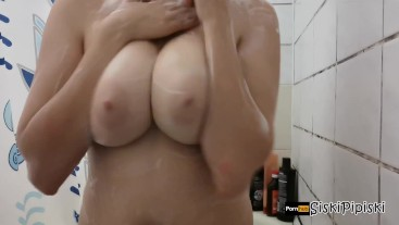 Big boobs in foam