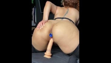 My first time with a anal toy