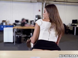 NICHE PARADE – Watch Latin Admin Assistant Secretly Masturbate At Work