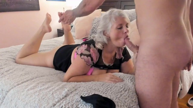 Son licking moms pussy