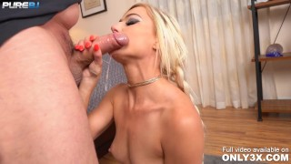 Morgan Rain in pigtails gives an epic POV Blowjob – by Only3x – scene by PureBJ powered by Only3x