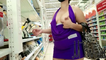 public flashing in store, caught, voyeur