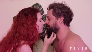 Sexy redhead fucking with fruits, vegetables and mature man – TRAILER ORGANIC