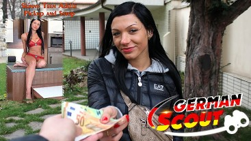 GERMAN SCOUT - SMALL ASS BLUE EYES TINY TEEN I ADELLE TALK TO FUCK AT STREET PICKUP 1