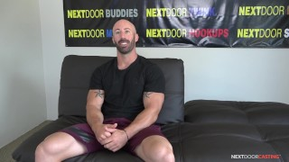 Straight Muscle Hunk Max King Impresses Interviewer At Audition - NextDoorCasting