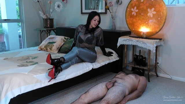 Kim possible orgasm Broken toy - edged and ruined by red sole boots preview - young goddess kim