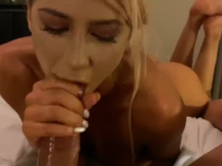 Feet Pose Head Bobber Blowjob | GFE Experience | Sloppy Deepthroat | Cum Swallowing