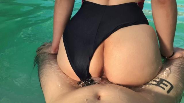 Black girls in pool porn Horny girl begs for dick in the pool