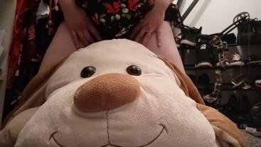 Secretly humping my stuffed animal in my closet