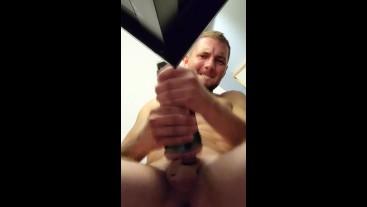 GIRTHYYYYGARYYY's MASSIVE Cumshot After Fucking His Fleshlight(;