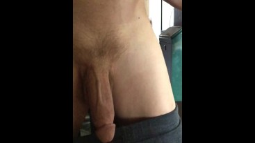 Playing with my huge big soft floppy chubby dick in slow motion