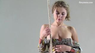Blonde teen Anka Merdok does incredible spreads