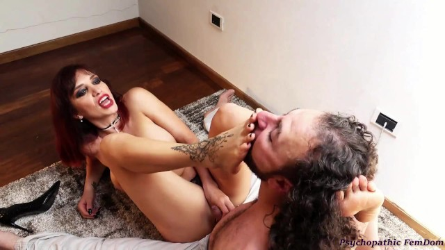Sex videos submited by amateurs Mistress scarlet submits her slave sniffs feet licks feet and cum femdom foot domination