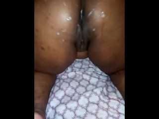 Black Girl Shakes Her Ass Post CumShot