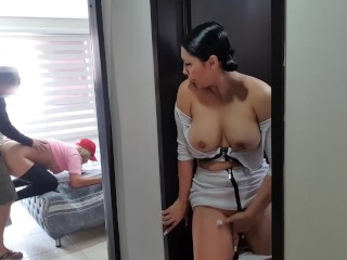 my step sister fucks my bf but im not mad im so fucking horny