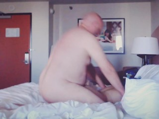 Fucked hard from behind in strangers hotel room