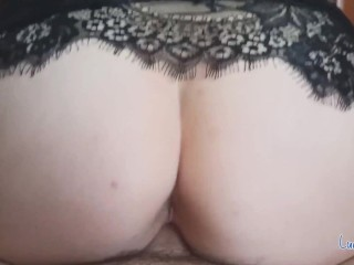 Step Mom Pussy Dripping Wet riding cock until Cum – Cowgirl PoV