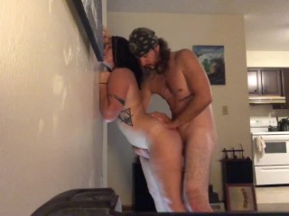 Gf Passionately Fucked Against Wall (Angle 1)
