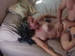 She Cums HARD From Breath Play