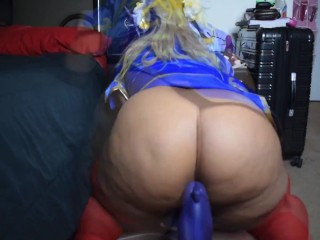 Blasian Chun Li Trying To Ride Big Cock
