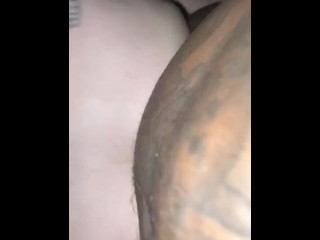 Taking a big black cock in my ass for the 1st time