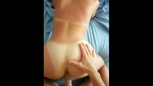 Tanning bed effects on vaginal herpes Doggy sex on vacation with tanned girlfriend