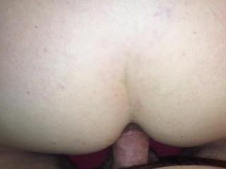 Mature Hot Wife love's having her ass filled with cum & loud cum fart