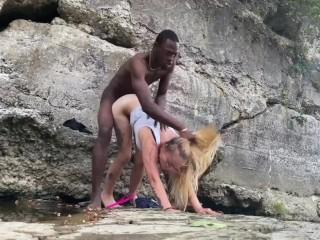 BigDaddyKJ: Interracial Couple Fucks On Hike   Pt.2   Preview