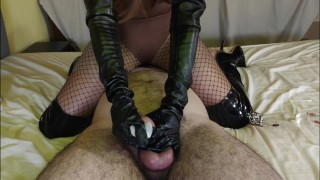 Chastity Vlog #9 – Slave Teased, Edged, Ruined & Tortured By Leather Mistress In Fishnets